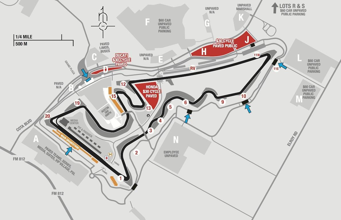 2017 Formula 1 United States Grand Prix Formula1 Circuit Diagrams